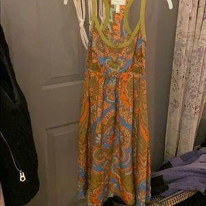 Patterned Halter Dress.